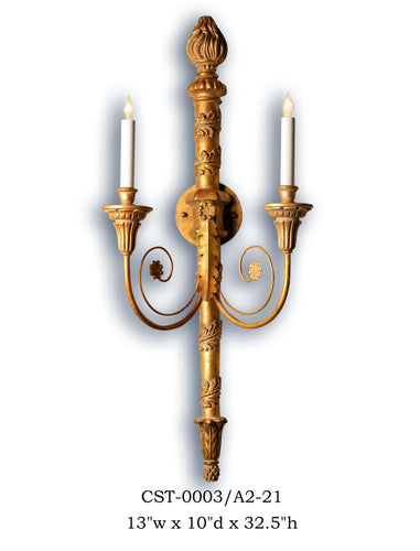 Wood Sconce - CST-0003/A2-21Sconce - Graham's Lighting Memphis, TN