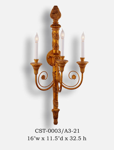 Wood Sconce - CST-0003/A3-21Sconce - Graham's Lighting Memphis, TN