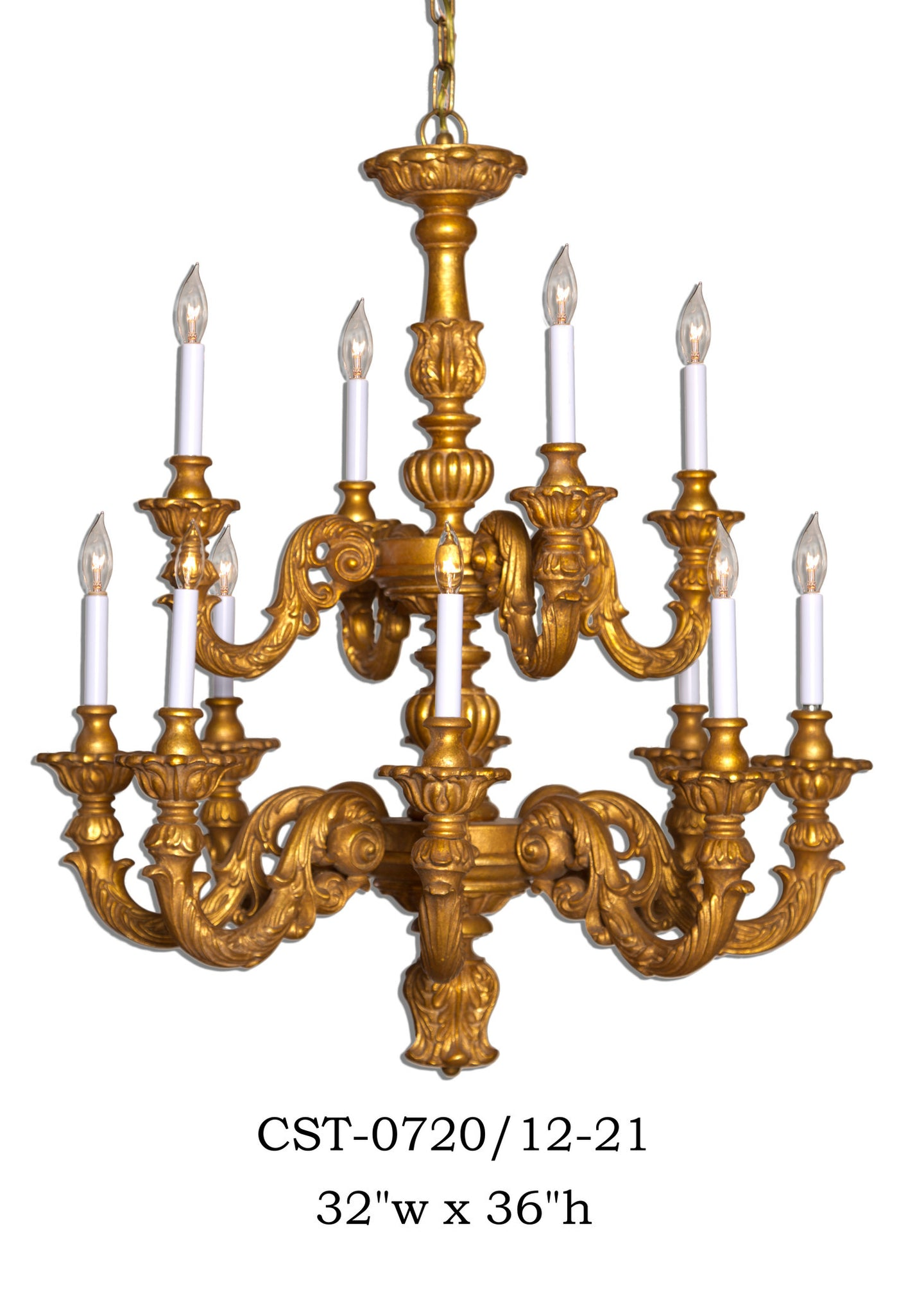 Wood Chandelier - CST-0720/12-21Chandelier - Graham's Lighting Memphis, TN