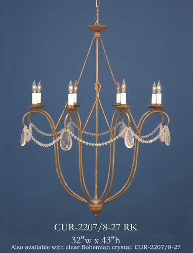 Crystal Chandelier - CUR-2207/8-27RKChandelier - Graham's Lighting Memphis, TN