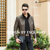 thepublisher,New Arrival High Quality Sheep skin Men Leather Jacket Plus size,Acapparelstore,Men's Jackets