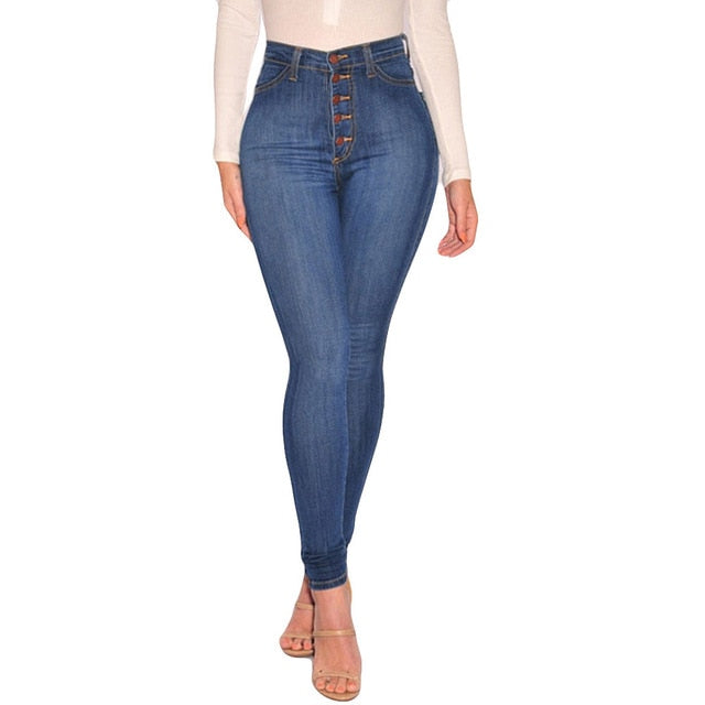 thepublisher,Women's High Waited Skinny Denim Pencil Pants Stretch Slim Plus Size,Acapparelstore,Women's Jeans