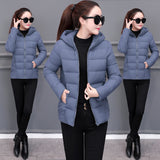 Women's cotton Winter Hooded Jackets-Warm Coats