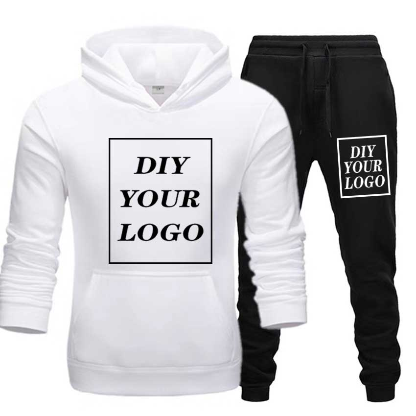 Customized logo Print Hoodies pants thick Sweatshirt Comfortable Unisex DIY