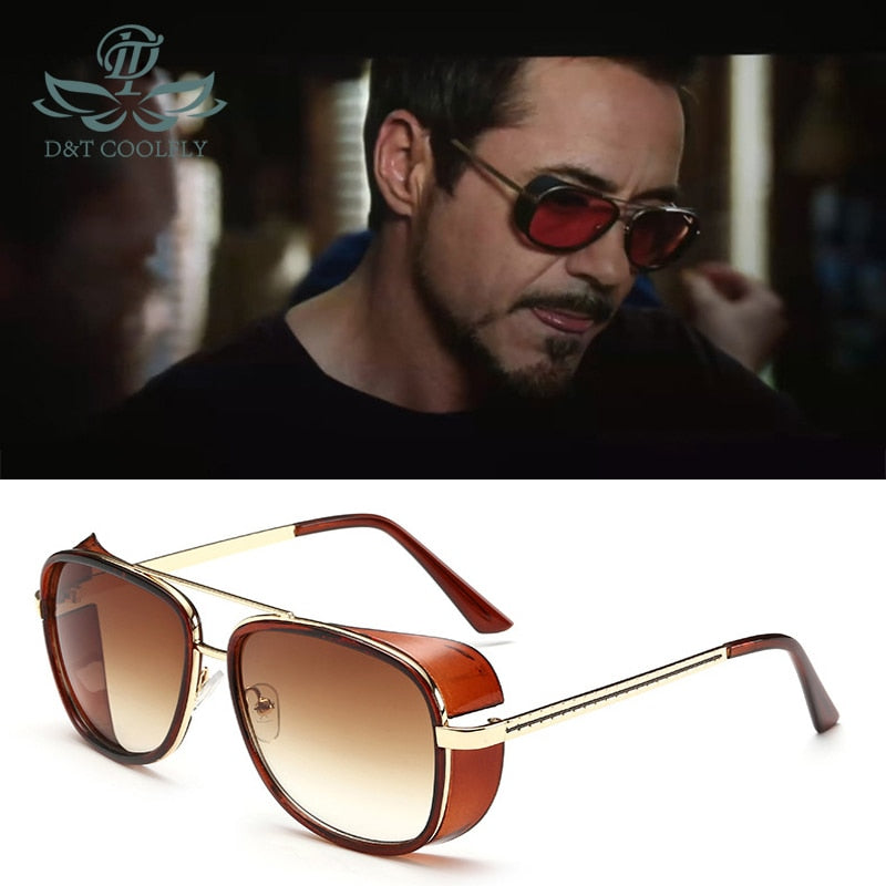 Iron Man 3 TONY Stark Men's Fashion Sunglasses Designer Brand