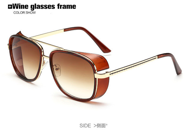 Iron Man 3 TONY Stark Men's Fashion Sunglasses Designer Brand.