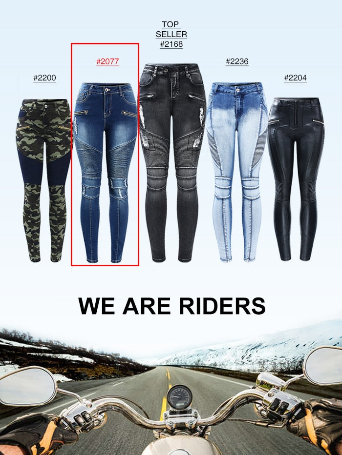 thepublisher,Women's High Quality Black Motorcycle Biker Zip Jeans Mid High Waist Stretch Skinny Pants,Acapparelstore,Women's Jeans
