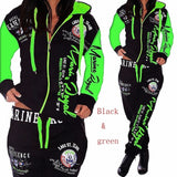 Women's Elegant Two Piece Hodded Jogging Sweatsuits.