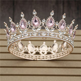 thepublisher,Women's Pink Crystal Rose Gold Flower Wedding Crown  Tiaras and Crowns,Acapparelstore,Crowns & Bouquets
