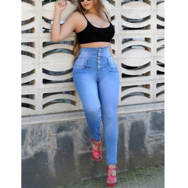 European And American-Style Hot Selling Women's Slim Fit Jeans 3 XL.