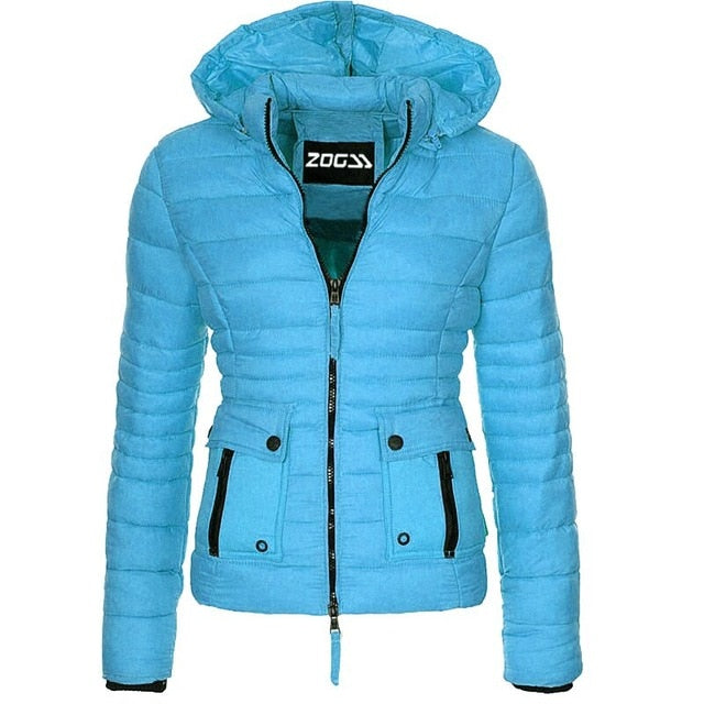 Women's Fashion Warm Puffer Slim Fit Jacket