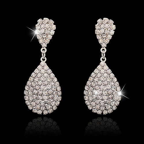High quality women's Austrian crystal earrings bridal  earrings for women.