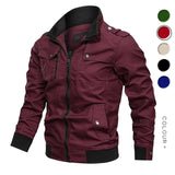 Men's Spring Autumn Cotton Windbreaker Pilot Coat Men's Bomber Jacket Plus Size 4XL.