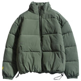 High-Quality Men's Warm  Thick Jackets Solid Color Parkas Casual Coats.