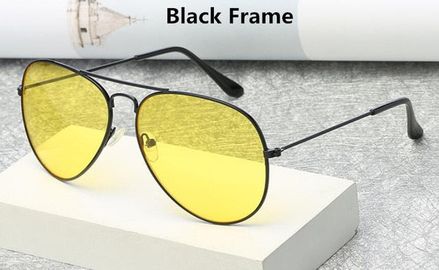 thepublisher,Brand 3025 Goggles Night Vision Glasses for Driving Fashion Aviation Yellow Sunglasses,Acapparelstore,Women's Sunglasses