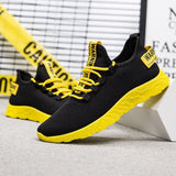 Men's Vulcanize Breathable Casual Sneakers Male Air Mesh Lace Up Tenis Shoes.