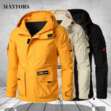 Multi Pockets Jackets Men's Military Mountain Hiking Windproof Coats Plus Size.