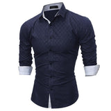 Men's Slim Fit Long Sleeve Casual Social Male Shirt high quality.