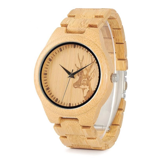 BOBO BIRD WD28 Full Wooden Men Brand Quartz Wrist Watch in Gift Box - Generalmarketstores