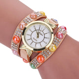 Quartz Crystal Diamond Wrist Watch.