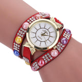 Quartz Crystal Diamond Wrist Watch - Generalmarketstores