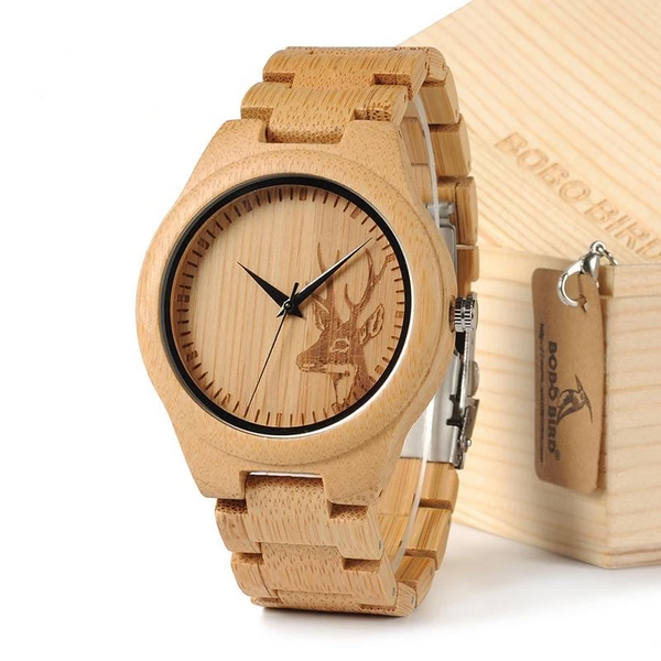 D28 Natural Bamboo Wood Watch Strap For Gift - Generalmarketstores