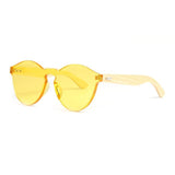 LONSY Handmade Yellow Color  Bamboo Sunglasses LS5121