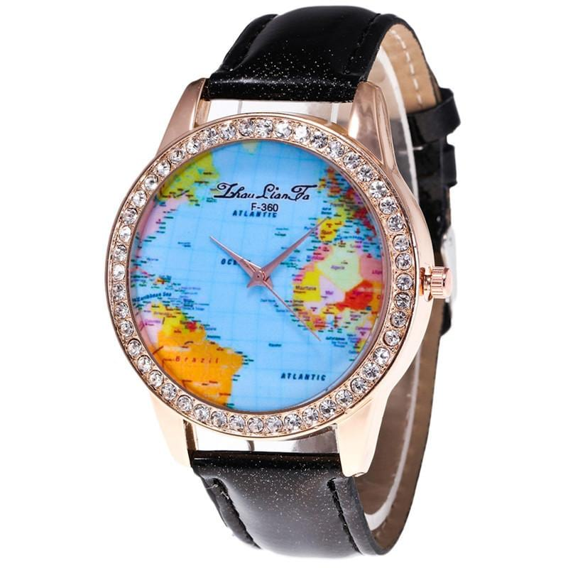 Leather Band Ladies Watch.