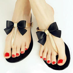 TEXU Bow Thong Jelly Jelly Flip Flop Sandals