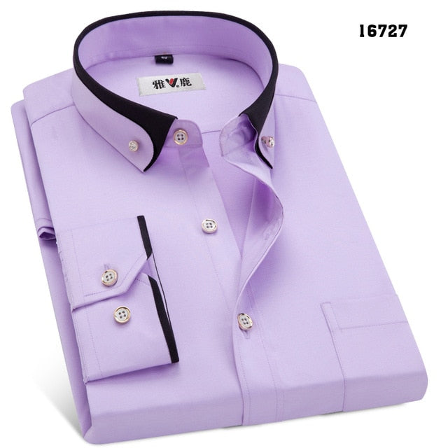 thepublisher,MACROSEA Spring&Autumn Men's Business Dress Shirts Male Formal Button-Down Collar,Generalmarketstores,Shirts