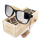 Style Vintage Black Square Sunglasses in Box