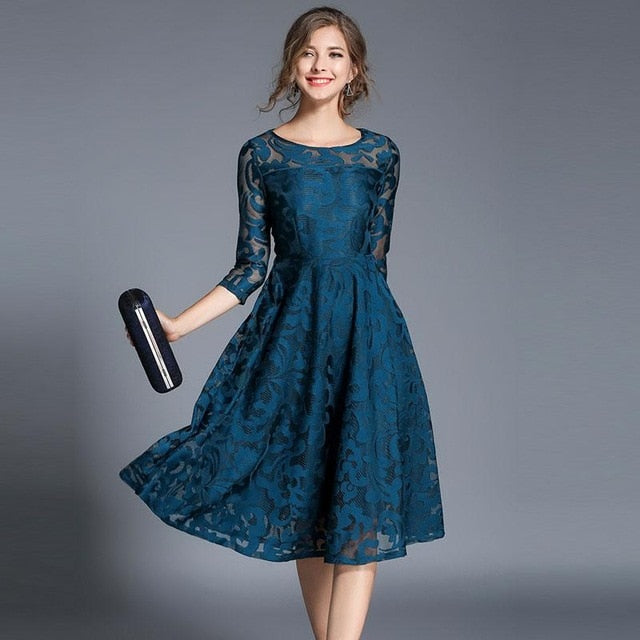 thepublisher,England Style Women Luxury Slim Casual Dress,Acapparelstore,Casual Dresses