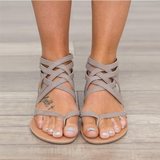 Fashion Women Summer Flat Sandals  Rome Style Cross Tied 43