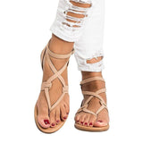 Women Plus Size 35-43 Gladiator Summer Female Beach Flat Sandals