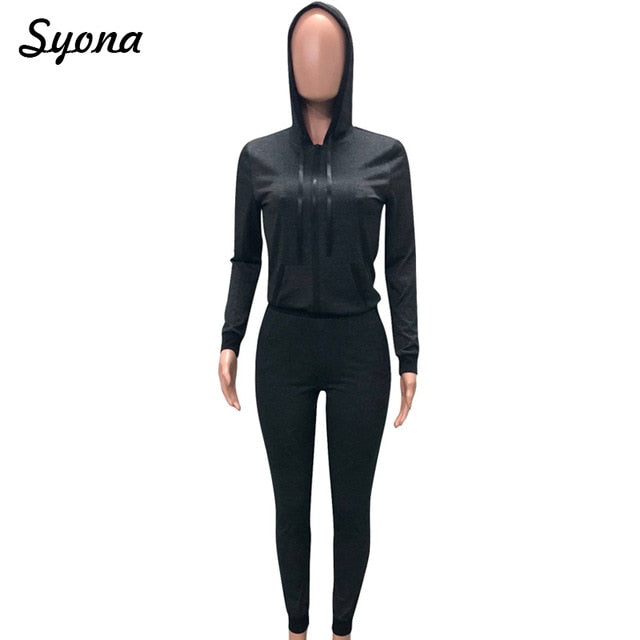 Women's 2 TWO PIECE SET Hoodies Jacket Zipper Jogger Trouser Tracksuit.