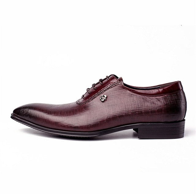Vintage Men's oxford shoes red wine black 100% genuine cow leather shoes Size 6.5-10.