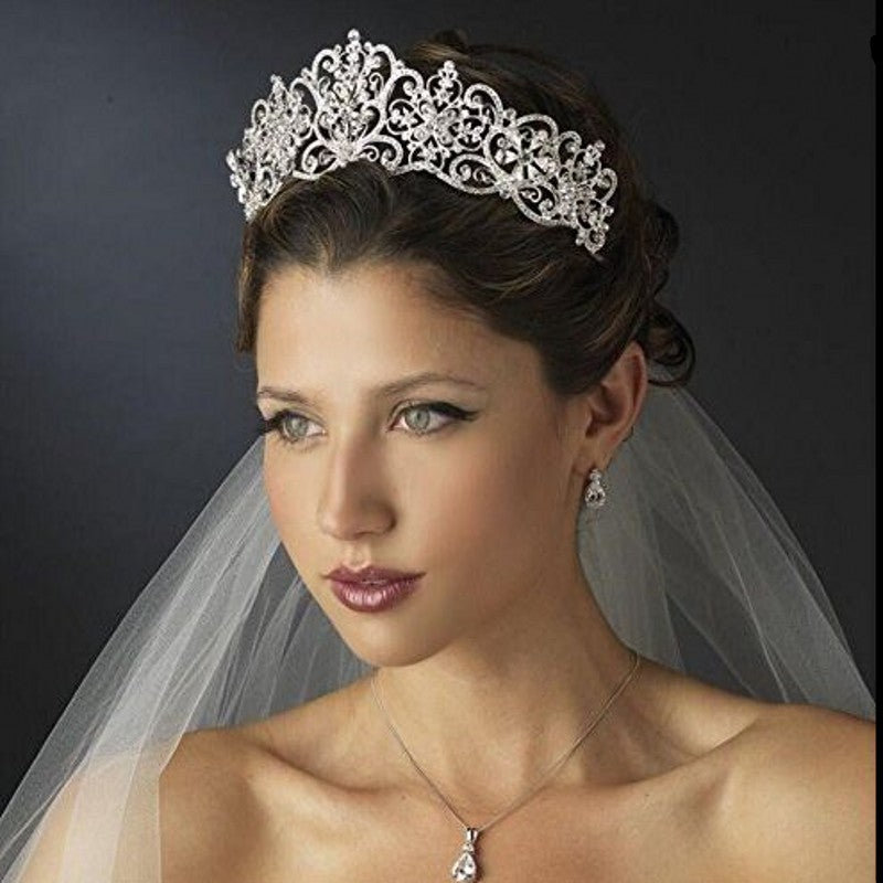 Women's Luxury Crystal Rhinestones women's Princess Bridal Tiaras Crown.