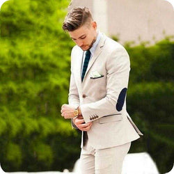 Tuxedos Groomsmen Wedding Party Dinner Best Man Suits (Jacket+Pants+Tie)