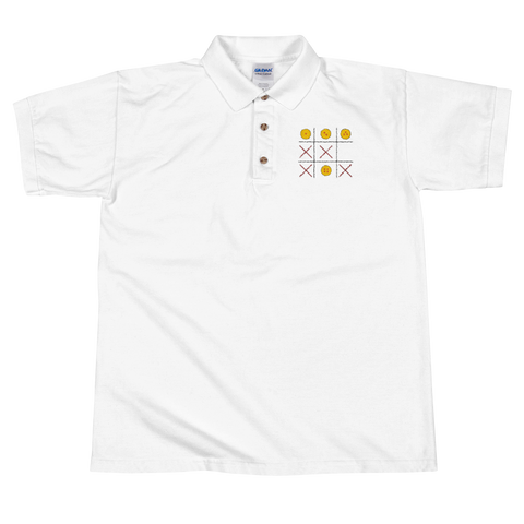 DBZ Tic - Tac - Toe Embroidered Polo Shirt