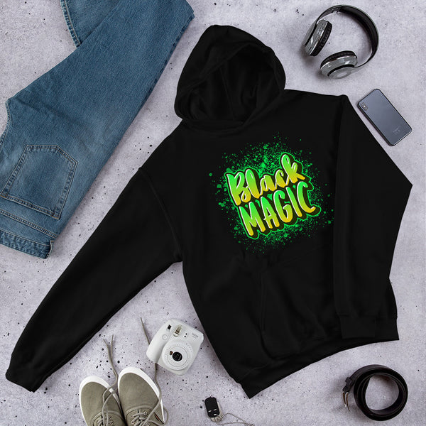 Black Magic Graffiti Green Hoodie