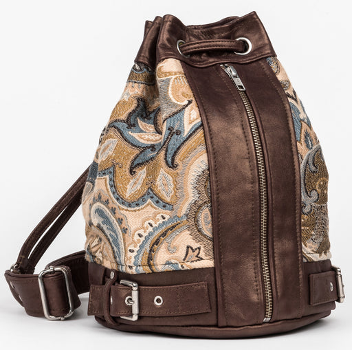 Carolyn Neutral Paisley Bucket bag