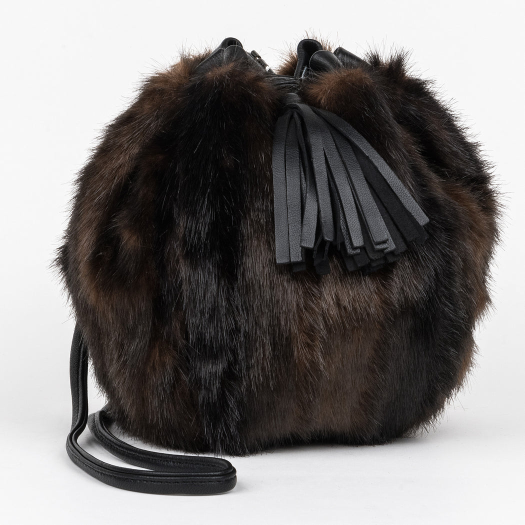 Lulu Faux Mink 'Bubble' bag