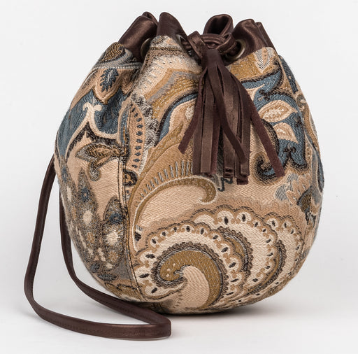 Lulu Neutral Paisley 'Bubble' bag