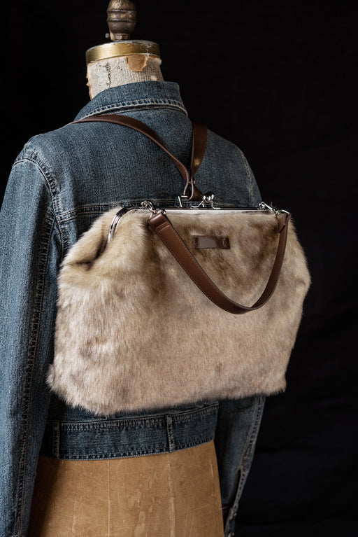 Copy of Paulie kiss lock handbag-Chinchilla