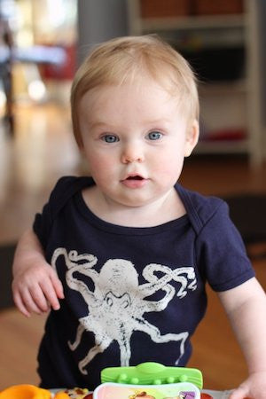 Octopus One Piece - Infant Navy