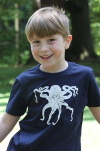 Octopus T-Shirt - Toddler Navy