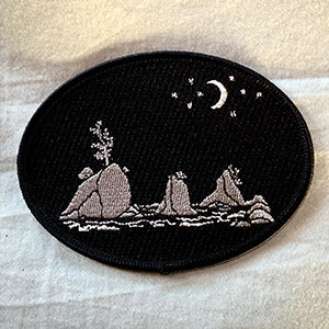 Moon Over Three Graces Iron-On-Patch