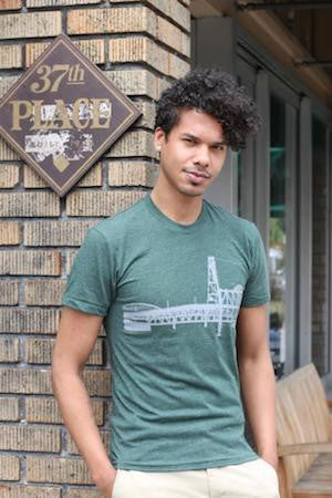 Portland Bridges T-Shirt - Unisex Forest Heather