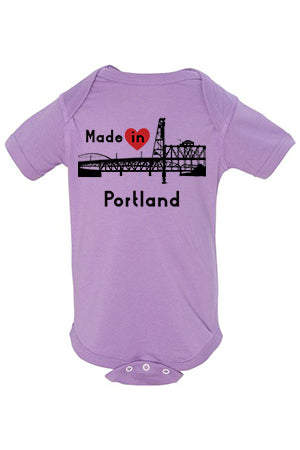 Made In Portland One Piece - Infant Lavender