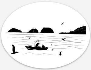 Bay Bounty Oval Stickers